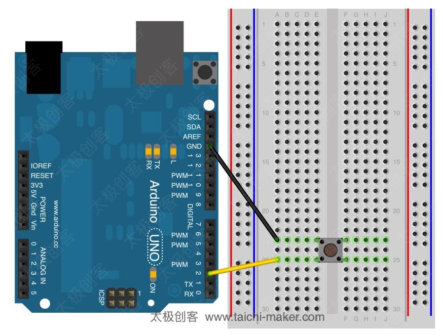 Arduino Input Pullup连接方式