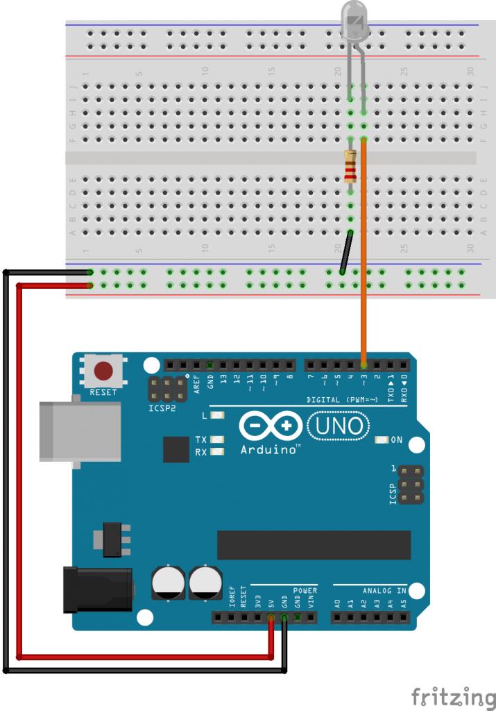 Arduino控制红外LED