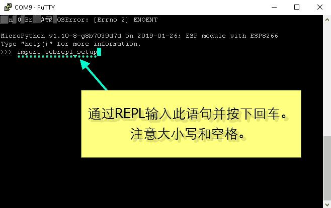 为NodeMCU设置MicroPython WebREPL-1