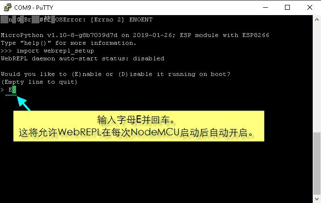 为NodeMCU设置MicroPython WebREPL-3