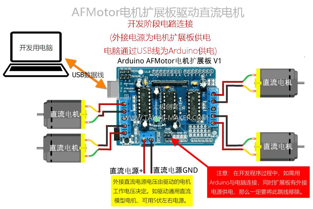 AFMotor电机扩展板驱动直流电机(开发过程)