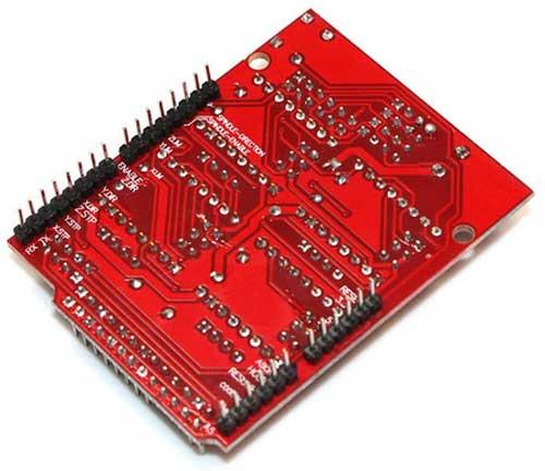 Arduino-CNC电机扩展板背面