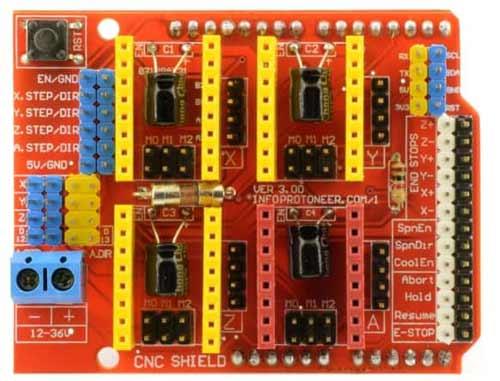 Arduino CNC 电机扩展板(正面)