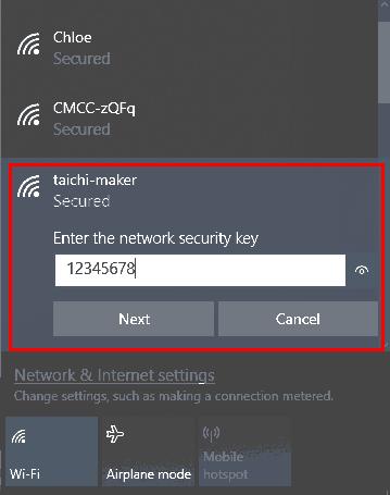 连接nodeMcu所建立的的WiFi