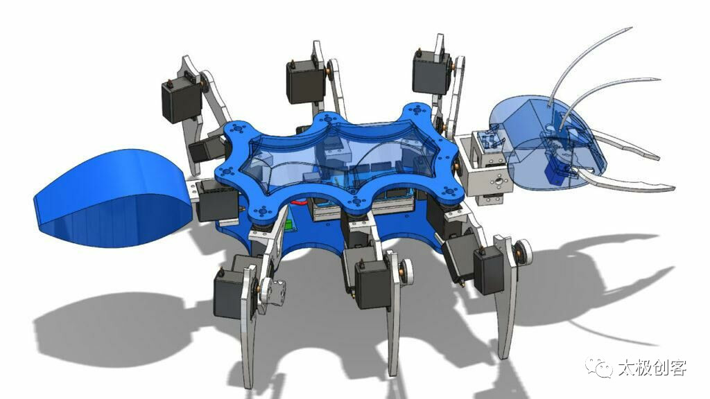 arduino六足蚂蚁机器人三维模型