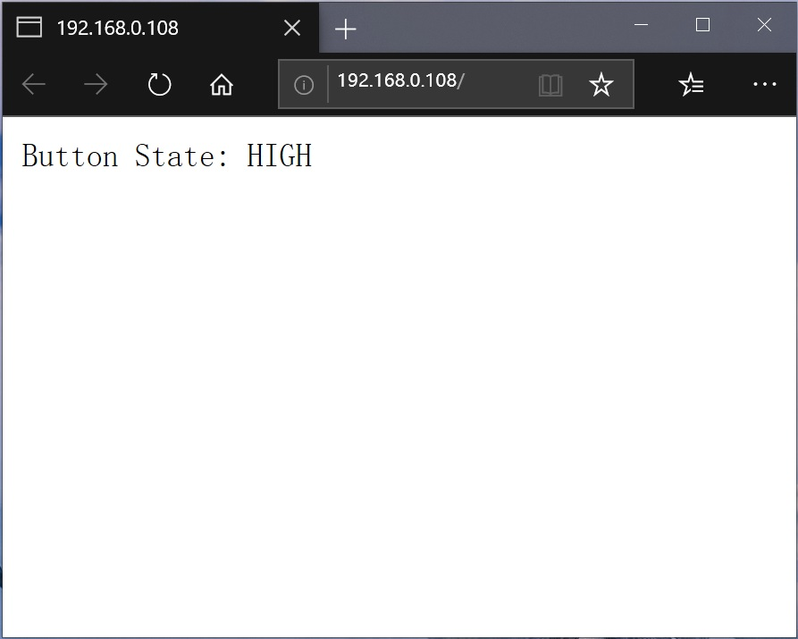 NodeMCU-ESP8266按键没有按下显示页面