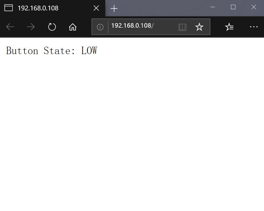 NodeMCU-ESP8266按键按下显示页面