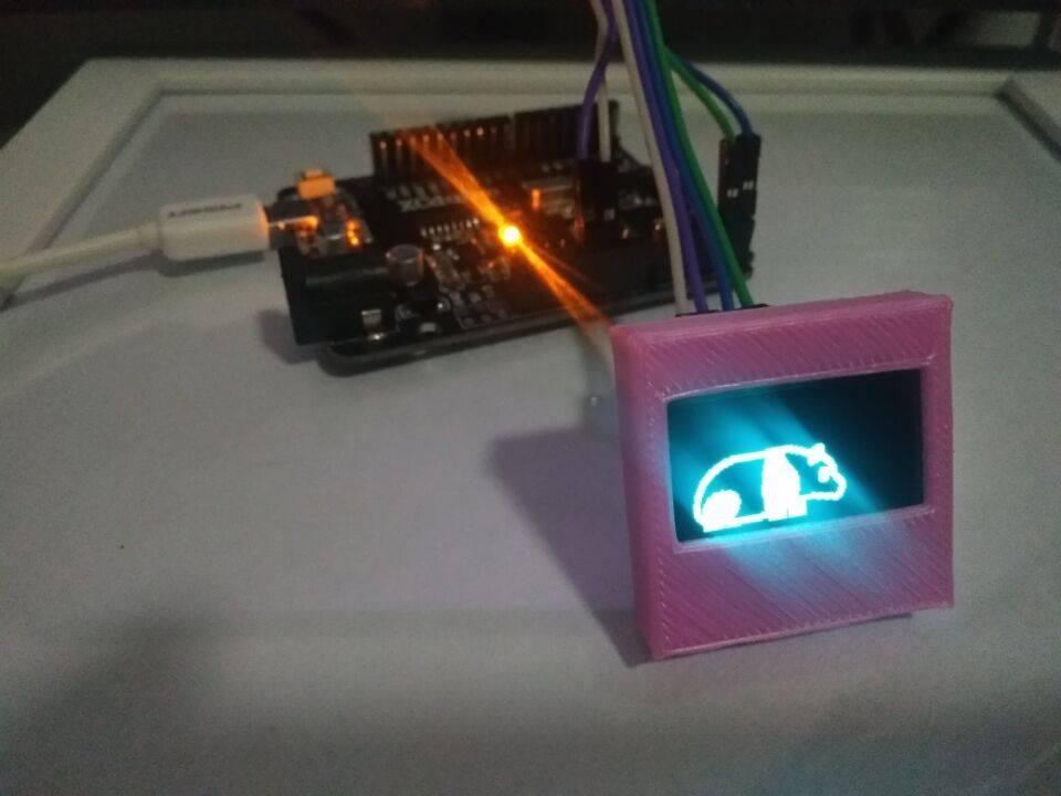 OLED0.96图片显示Arduino OLED0.96 屏幕模块 太极创客