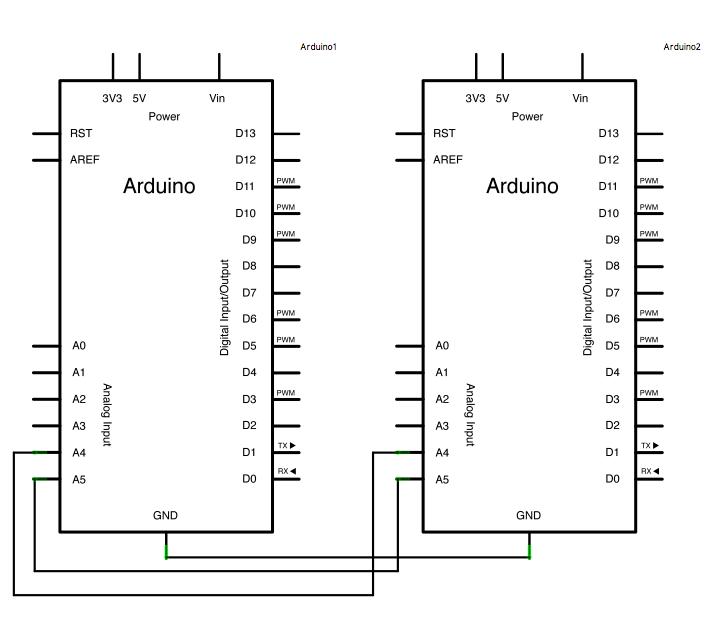 Wire板间通讯电路原理图 Arduino IIC协议 Wire 太极创客